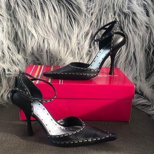 BCBGirls Kappa Tumbled Leather Vintage Heels